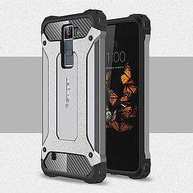 Чехол накладка для LG Escape 3 K373 противоударный Spider, серый