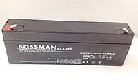 Аккумулятор 12V 2.3Ah Bossman profi  6FM2.3 , фото 1