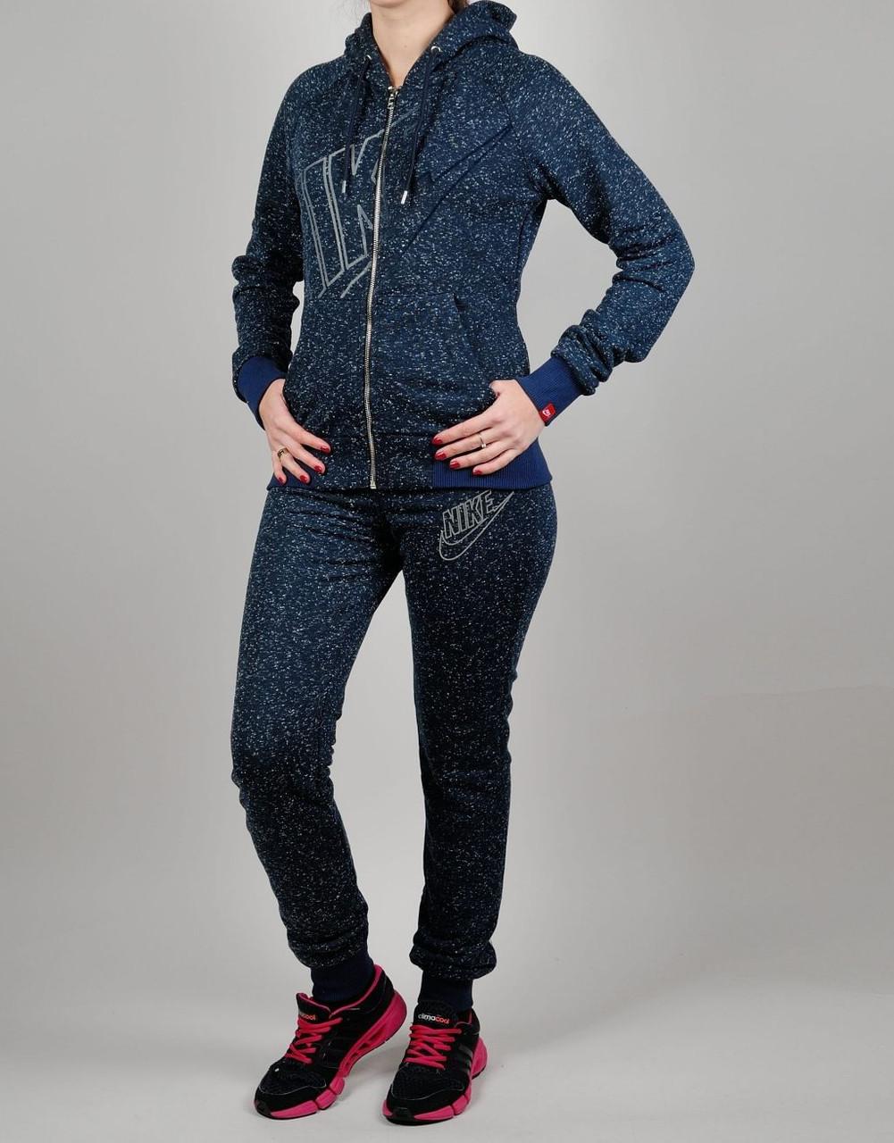 72ff37ea Женский спортивный костюм Nike 7184 Тёмно-синий - Брендовая одежда от  интернет-магазина «