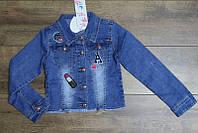Джинсовая куртка для девочек 4- 12 лет
