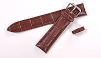 Кожаный коричневый ремешок для часов 20мм