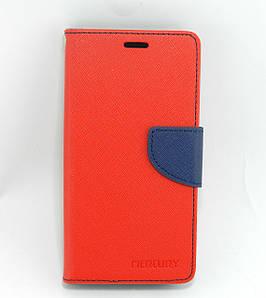 Чехол книжка для Meizu U10 боковой с отсеком для визиток, Mercury GOOSPERY, Красный