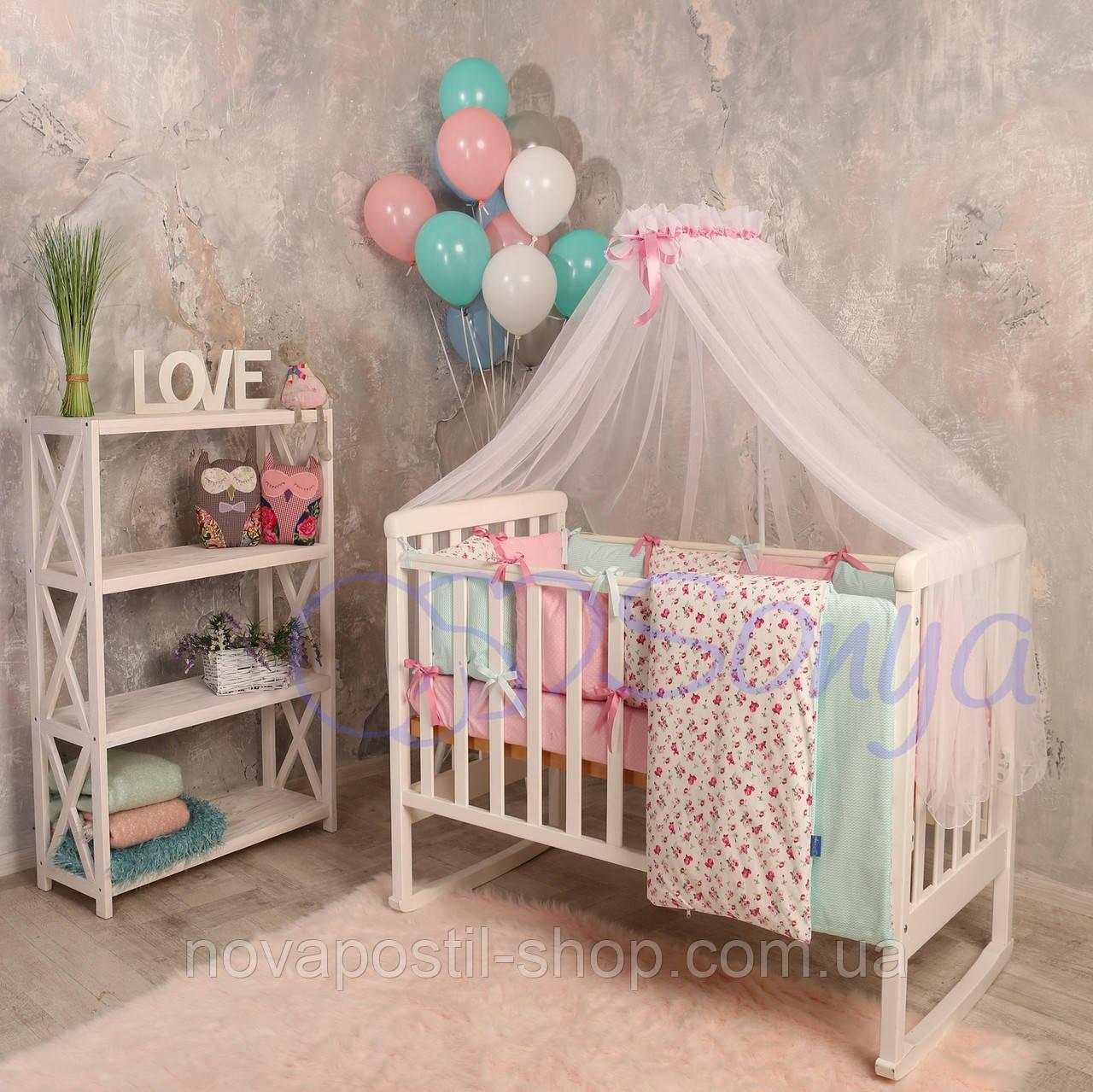 Набор в детскую кроватку  Baby Design Premium прованс (7 предметов)