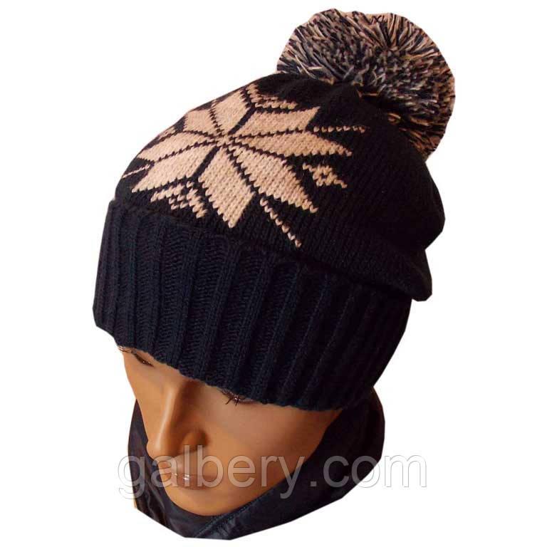 Зимняя шапка - носок с орнаментом
