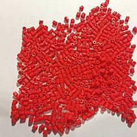 Бисер рубка японский Матсуно Япония. Бісер MATSUNO 11/ 2 CUT 100 грам, № 735 , червоний керамічний