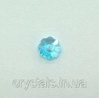 Пришивные цветочки Preciosa (Чехия) Crystal Aqua Bohemica 6 мм