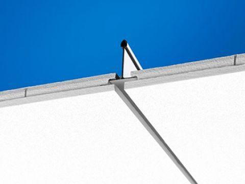 Ecophon Focus Dg Уникальный дизайн кромки. Впечатление парящих в воздухе панелей. Панели легко демонтируются.