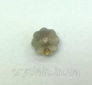 Пришивные цветочки Preciosa (Чехия) Black Diamond 8 мм
