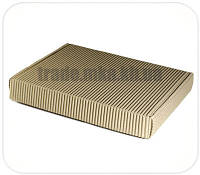 Бурые коробки из двухслойного гофрокартона 34х24х5 см
