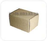 Бурые коробки из двухслойного гофрокартона 17х12х10 см