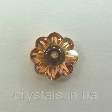 Пришивные цветочки Preciosa (Чехия) Crystal Capri Gold 10 мм