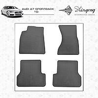 Коврики резиновые в салон Audi A7 Sportback с 2010 (4шт) Stingray
