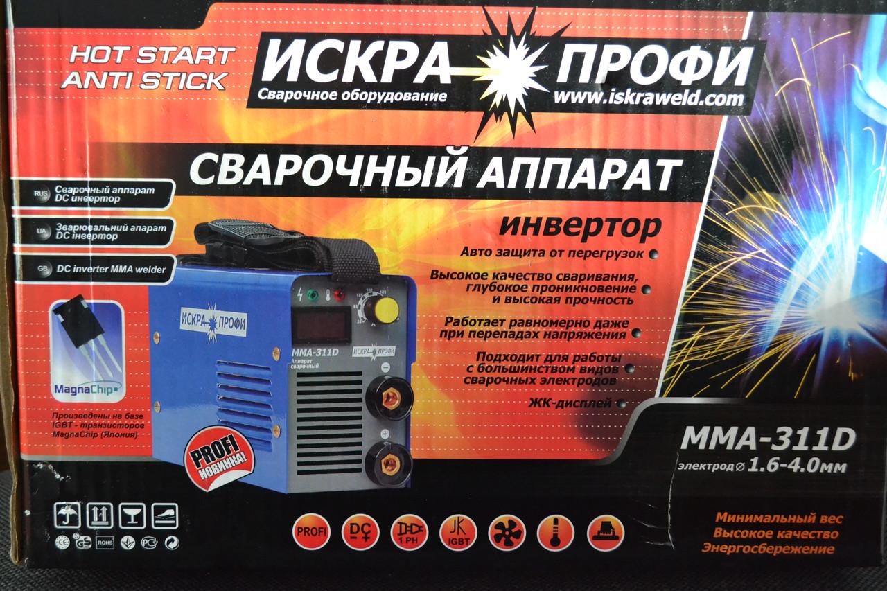 Зварювальний інвертор Іскра Профі MMA 311D