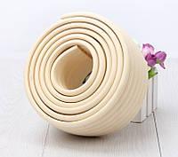 Мягкая длинная защита на уголы - Труба Молочный