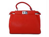 Женская сумка в стиле Fendi (алая) №F-224-1