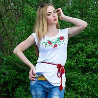 Жіноча футболка з вишивкою 42-52 рр