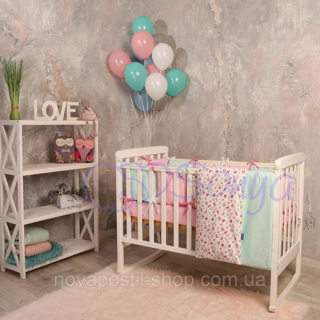 Набор в детскую кроватку  Baby Design Premium прованс (6 предметов)
