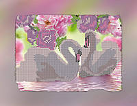 "Схема для вышивки бисером ""Лебеди"", на холсте А4"