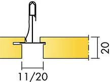 Ecophon Focus LПолускрытая подвесная система. Используется в тех случаях, когда необходимо задать направление , фото 2