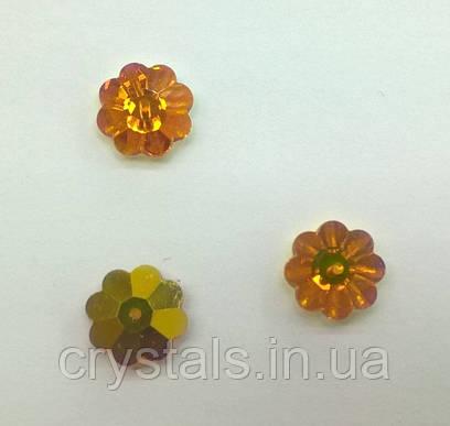 Пришивные цветочки Preciosa (Чехия) Topaz AB 14 мм