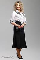 Классическая черная  юбка  большого размера 1996 Seventeen  52-58  размеры