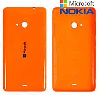 Задняя часть корпуса (крышка аккумулятора) для Microsoft (Nokia) Lumia 535, оранжевая, оригинал