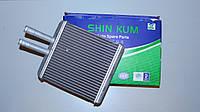 Радиатор печки (отопителя) SHINKUM Ланос, Нубира, Сенс (алюминиевый) 96231949