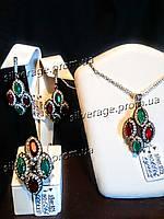 Серебряный комплект в Османском стиле из коллекции Хюррем Султан