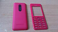 Корпус Nokia Asha 206 красный c клавиатурой