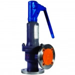 Клапан запобіжний пружинний кутовий повнопідйомний сталевий фланцевий Ду15 - Ду100