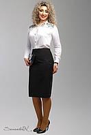 Классическая черная  юбка карандаш 1994 Seventeen 52 размер