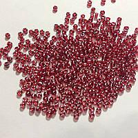 Бисер японский круглый Матсуно MATSUNO, 11 RR 100 грам, №518, червоний темний прозорий з напиленням