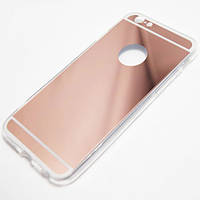 Чехол TPU зеркальный для iPhone 5/5S rose gold
