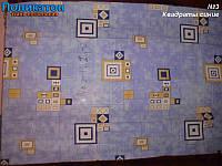 Ткань постельная поликоттон - квадраты синие.