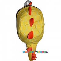 Рюкзак динозавр с шипами желтый