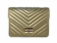 Женская сумочка в стиле Chanel (светлое золото) №9954