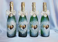 """Украшение свадебного шампанского """"Романтика"""", Киев"""
