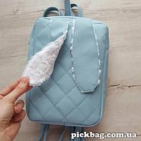 Женский рюкзак с ушками кролика Зай голубой