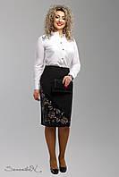 Батальная женская черная юбка 1991 Seventeen  48-54  размеры