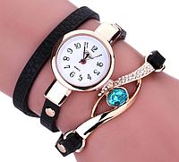 Часы браслет женские наручные черные