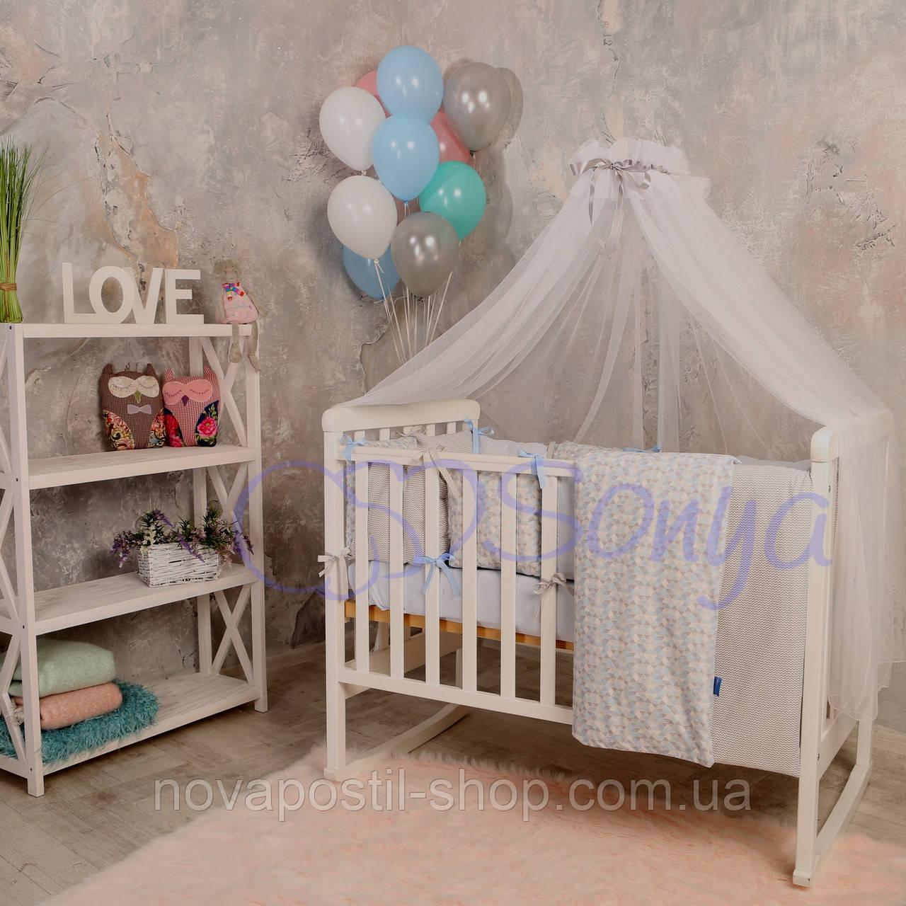 Набор в детскую кроватку  Baby Design Premium ice (7 предметов)