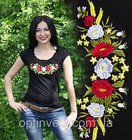 """Жіноча футболка с вишивкою трикотаж """"Рюша"""" 42-52 рр"""