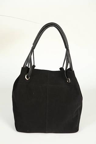Женская сумка из натурального замша черного цвета М54-47 замш, фото 2 a70d607e8ff