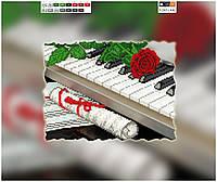 """Схема для вышивки бисером """"Пианино"""", на холсте А4"""