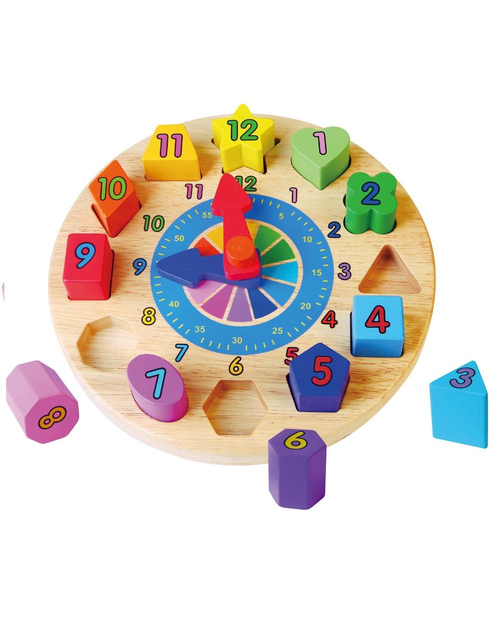 Развивающие и обучающие игрушки «Viga Toys» (59235VG) деревянный пазл Часы