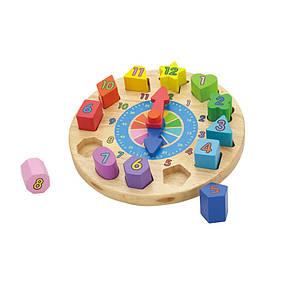 Развивающие и обучающие игрушки «Viga Toys» (59235VG) деревянный пазл Часы, фото 3