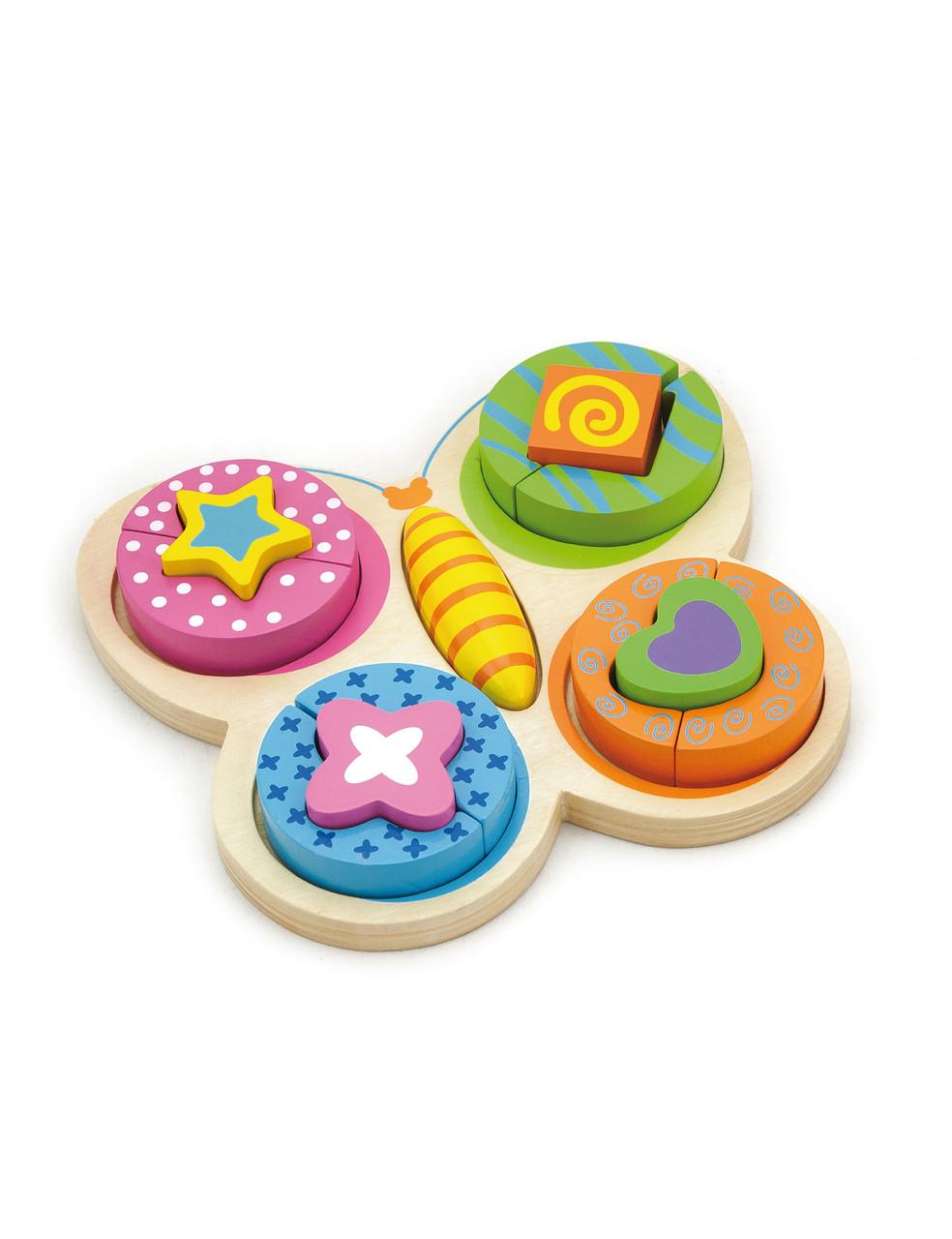 Развивающие и обучающие игрушки «Viga Toys» (59924) деревянный пазл Бабочка