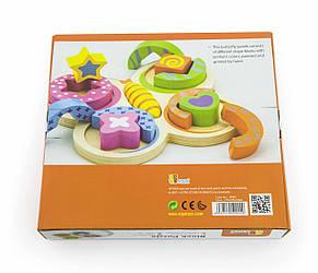 Развивающие и обучающие игрушки «Viga Toys» (59924) деревянный пазл Бабочка, фото 2