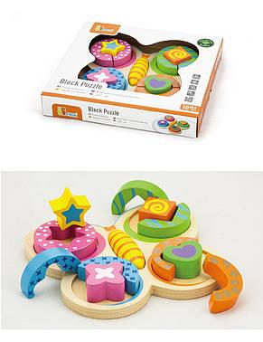 Развивающие и обучающие игрушки «Viga Toys» (59924) деревянный пазл Бабочка, фото 3