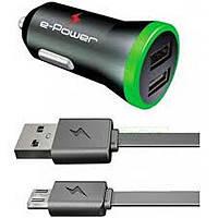 Набор GRIFFIN 3в1, АЗУ-USB+СЗУ-USB+кабель 1м USB-4 iPhone, Black, Box